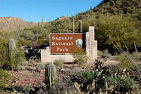 Entrance to Saguaro National Park